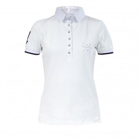 Pikowana damska koszulka polo Horze Ines